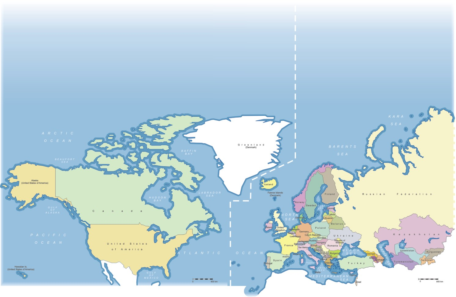 Map United States And Europe Tusstk  Best Images About - Map of north america and europe