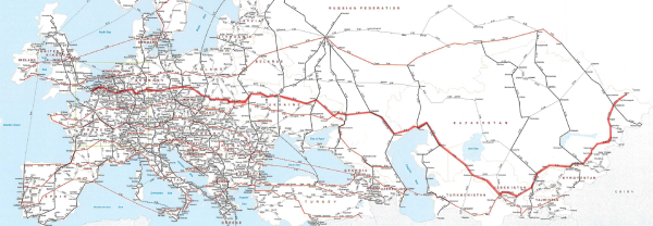 Map of the E40 European Highway