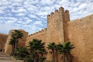 View of walls in Morocco